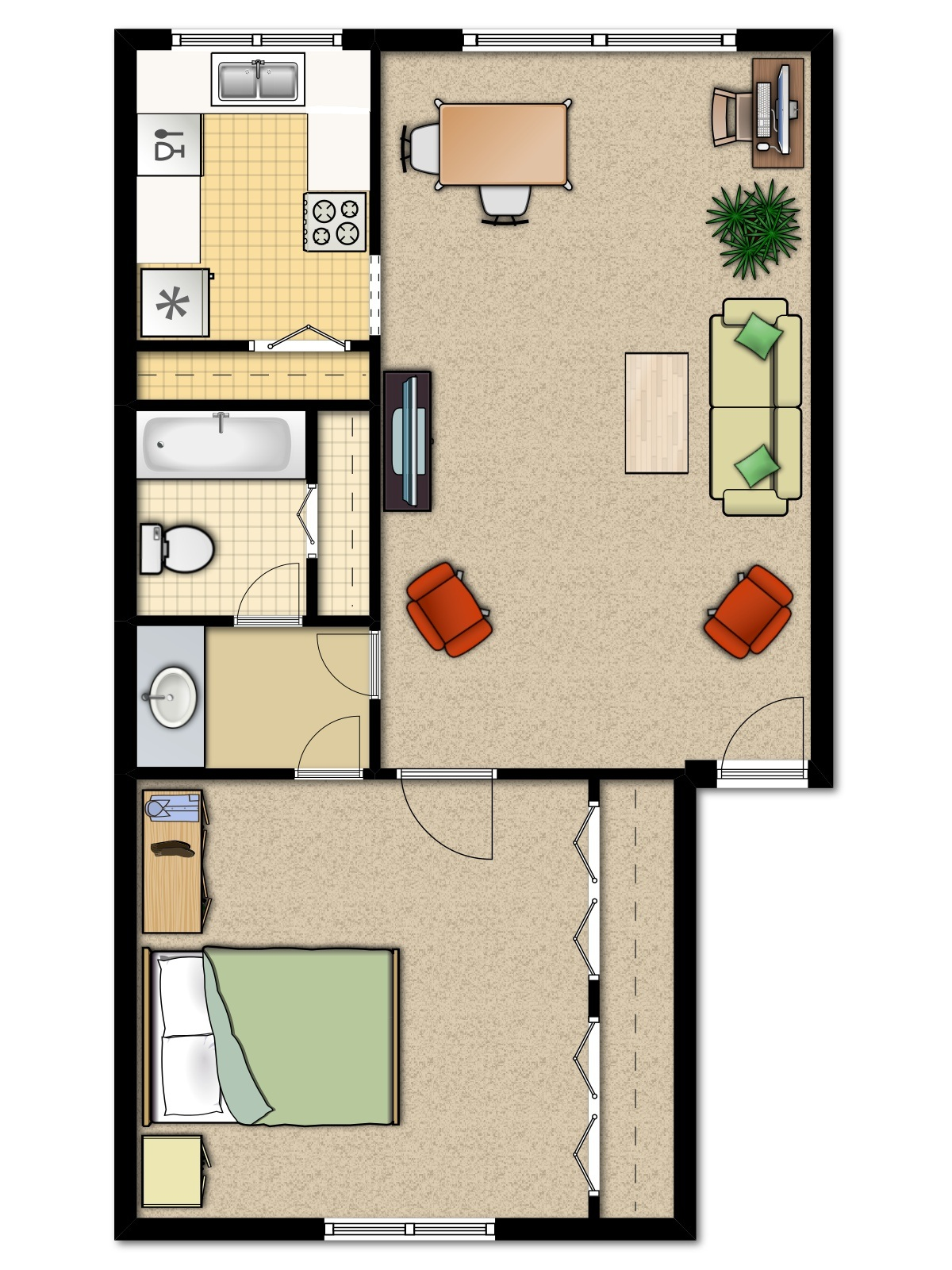 1600 Square Foot House Plans With Bat